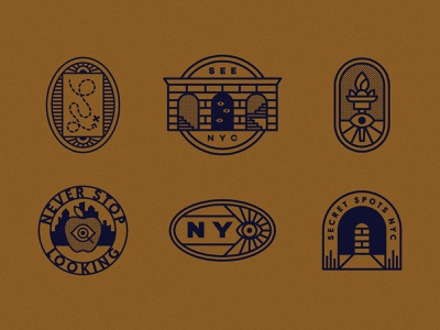 NY-See branding badge nyc icons