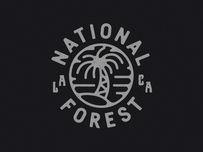 NF palm illustration branding