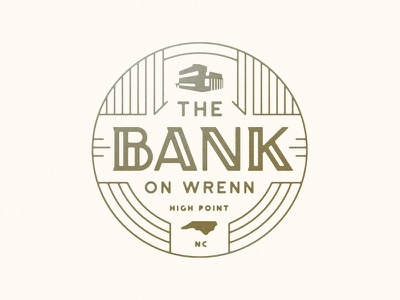 The Bank bank identity logo branding