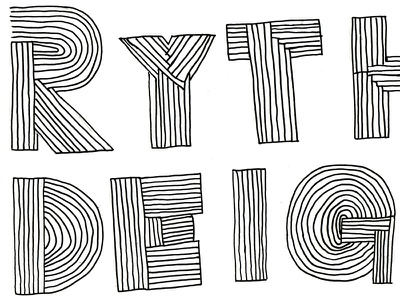 Everything illustrated type illustration