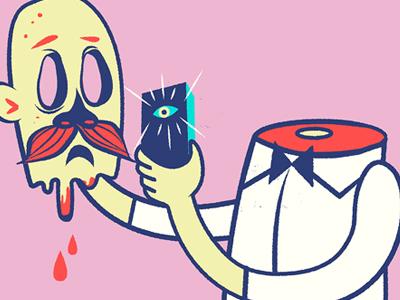 Pictoplasma Selfie pictoplasma charcter selfie illustration.