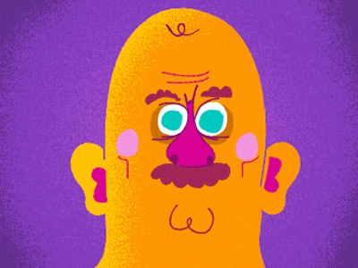 a mustached man mustache sketch muscle man illustration