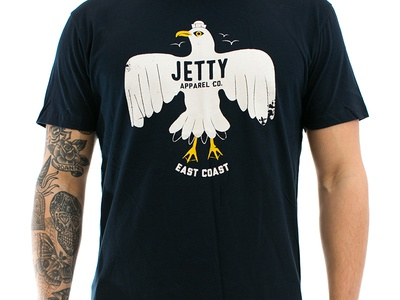Jetty East Coast illustration bird east coast apparel surf seagull jetty tshirt