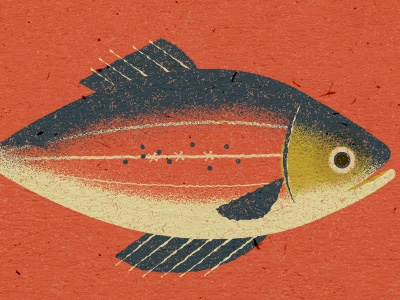 Here Fishy fishy pattern illustration fish animal