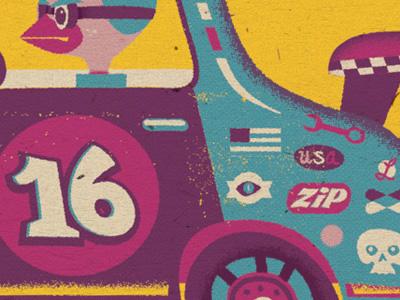 Zip racers race illustration bird