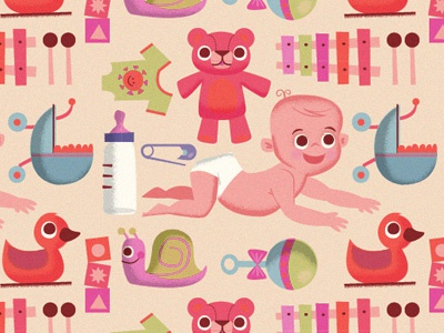 Baby Pattern illustration pattern baby infant