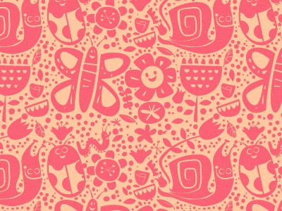 Baby Bug pattern illustration pattern baby infant bug 2-color