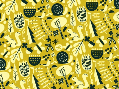 Forest Friends illustration pattern forest kids stationery