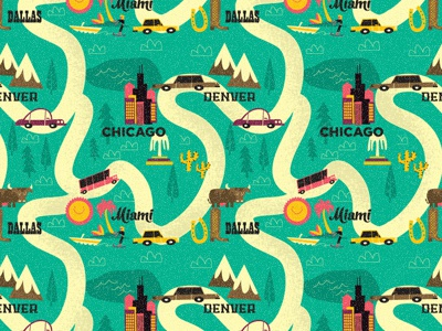 Travels illustration pattern travel kids stationery