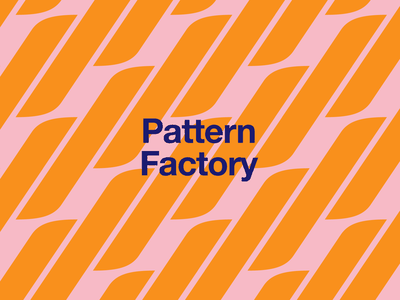 Pattern Factory illustration illustrator web mark logo factory branding pattern
