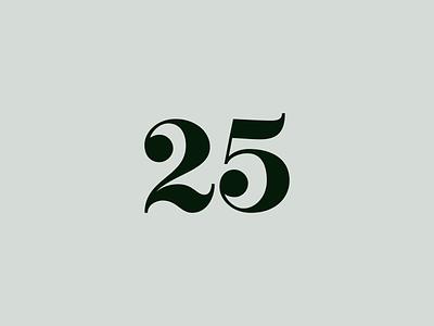 25 five twenty 25 bezier outlines lines illustration illustrator vector lettering