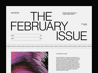 Mesmerize Magazine magazine editorial website flat minimal web app type typography branding ui ux clean design