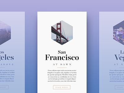 City Cards type typography web san francisco city minimal ui clean widget card