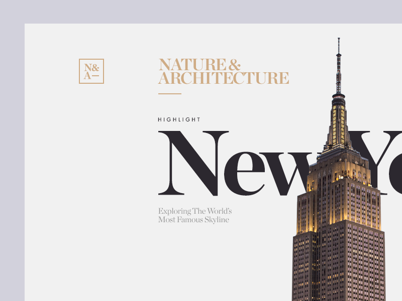 N&A Magazine Detail munich new york nyc type typography web design architecture nature city clean minimal ui
