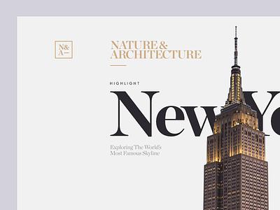 N&A Magazine Detail munich new york nyc type typography web design architecture nature city clean minimal ui