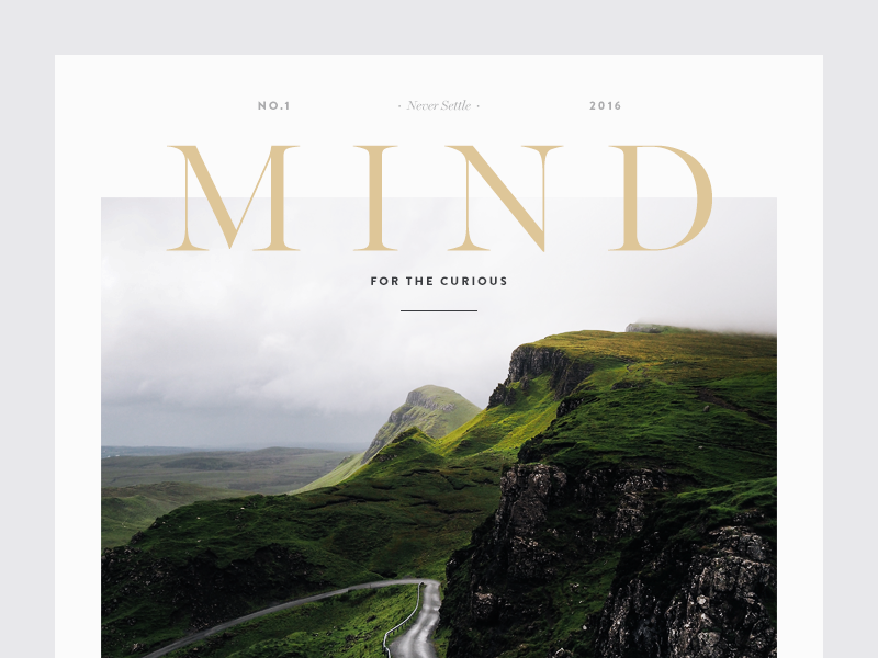 Simple Book Cover Jobs : Mind by vedad siljak dribbble