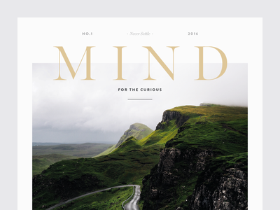 Mind editorial magazine masthead gold munich elegant minimal clean type typography graphic design