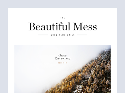 The Beautiful Mess clean minimal graphic design munich magazine headline type typography