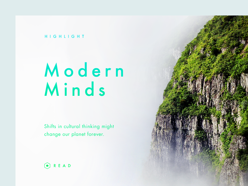 Modern Minds fog forest mountain munich layout editorial graphic design type typography photography ui