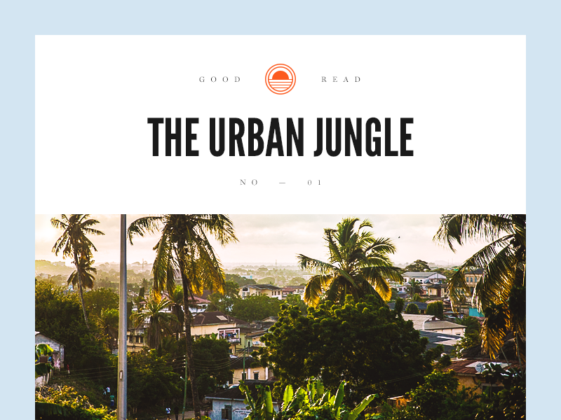 The Urban Jungle palm badge magazine munich jungle city urban type typography