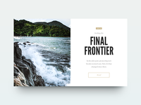 Seeking the Final Frontier