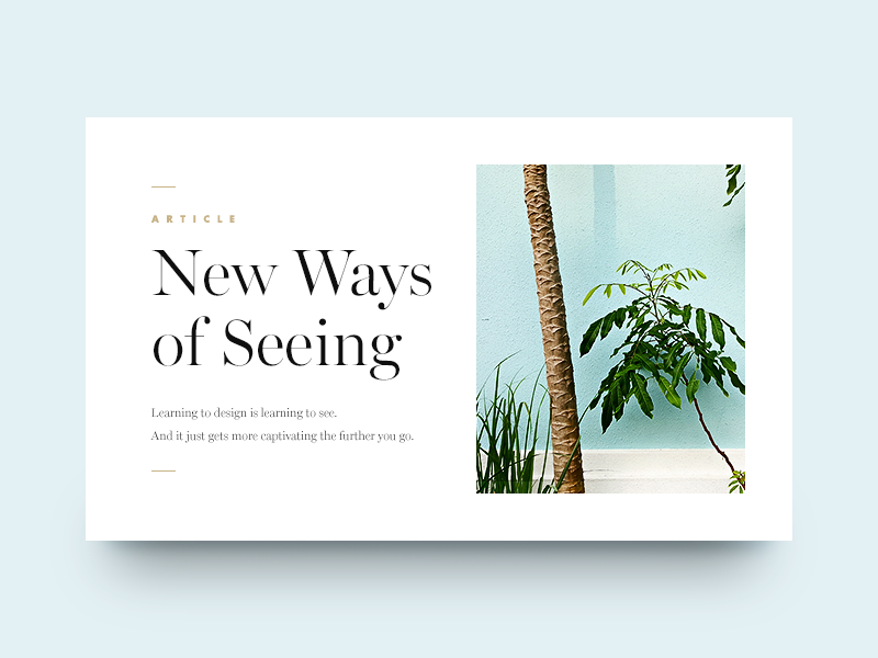 New Ways of Seeing editorial munich clean minimal type typography