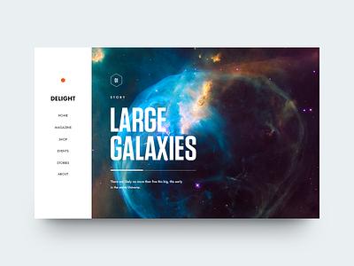 Delight Magazine condensed galaxy editorial munich clean minimal type typography delight