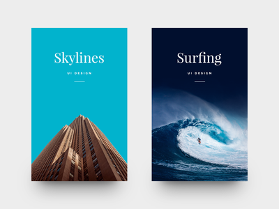 Project Cards ui card cards skylines surf munich clean minimal type typography