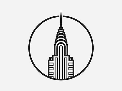 Chrysler Building urban nyc city new york building chrysler illustration illustrator