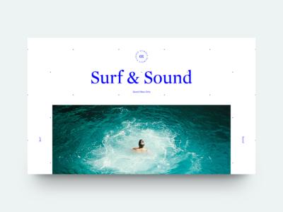 Surf & Sound mag good vibes sound surf water sea minimal clean munich typography type