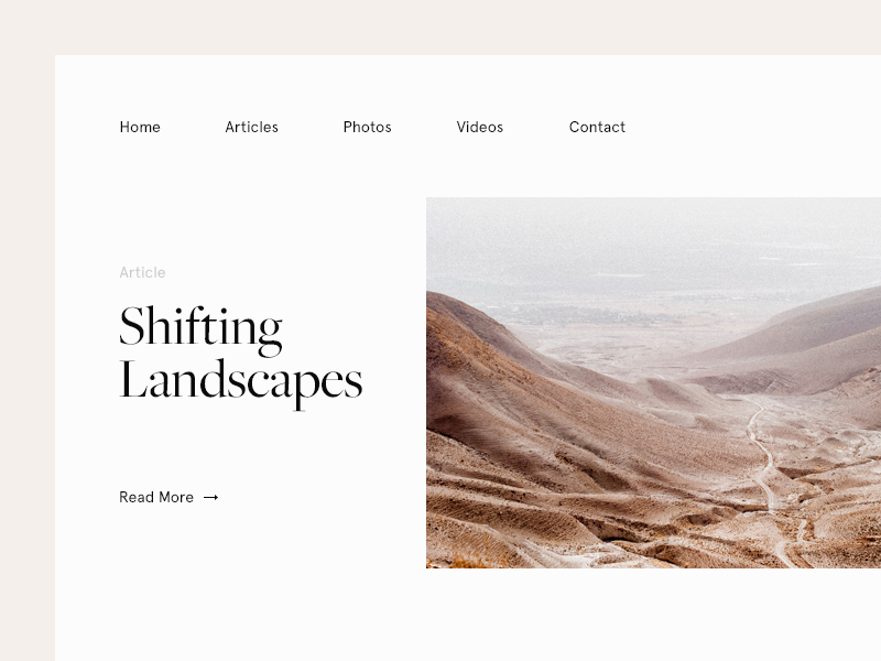 Shifting Landscapes
