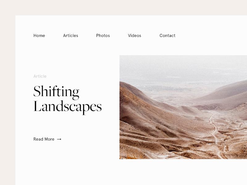 Shifting Landscapes