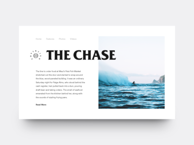 The Chase water ocean surfing chase magazine waves surf typography type clean munich