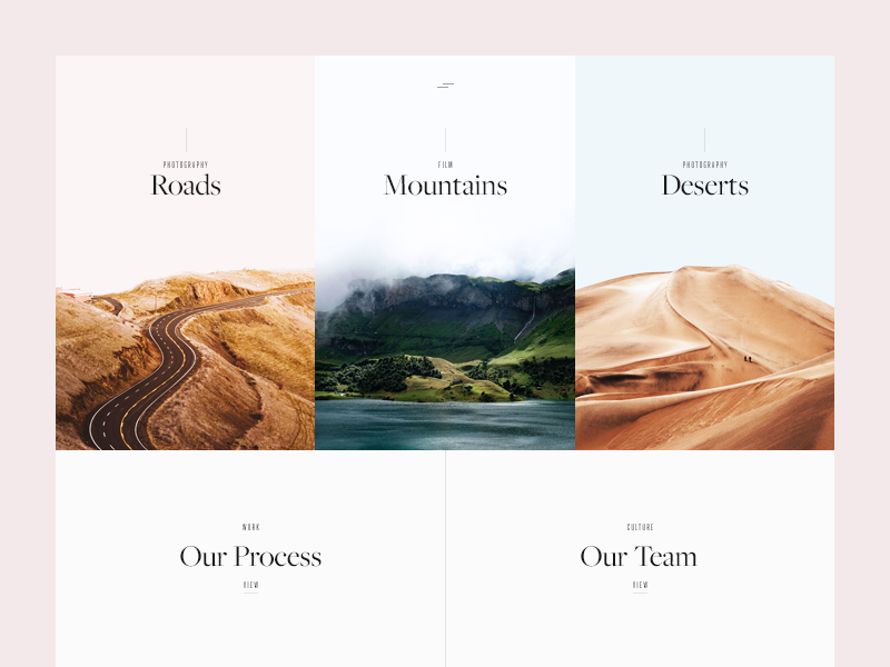 A Creative Agency Site site home minimal water type clean deserts roads mountains web ui munich