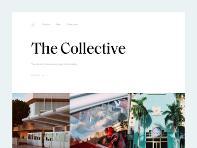 The Collective photography summer munich typography clean type minimal