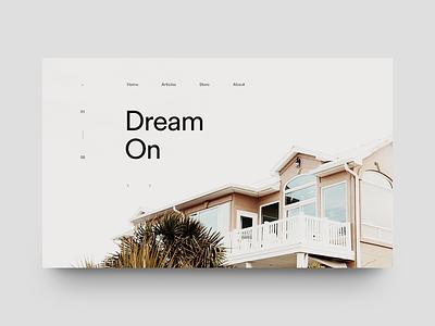 Dream On layout magazine minimal editorial clean typography type munich