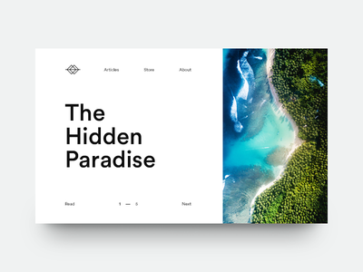The Hidden Paradise green sea paradise layout magazine minimal editorial clean typography type munich