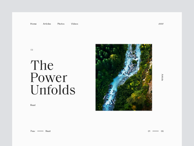 The Power Unfolds top nature grid layout editorial typography type river minimal clean munich