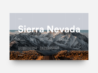 Sierra Nevada nature grid layout editorial typography type california sierra mountains minimal clean munich