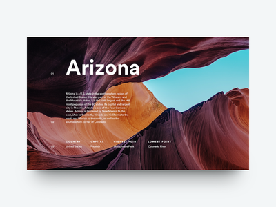 Arizona arizona grid layout editorial typography type sky canyon minimal clean munich