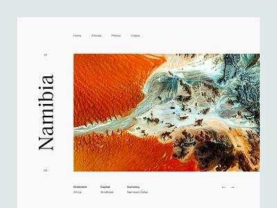 Namibia desert grid layout editorial typography type namibia minimal clean munich