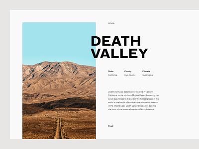 Death Valley desert grid layout editorial typography type death valley valley minimal clean munich