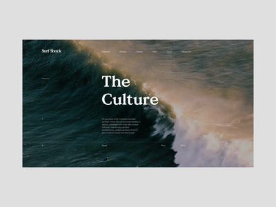 Surf Shack Home ocean sea grid layout editorial typography type surf shack valley minimal clean munich