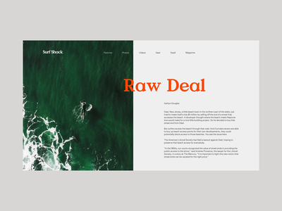 Surf Shack Article ocean sea grid layout editorial typography type surf shack valley minimal clean munich