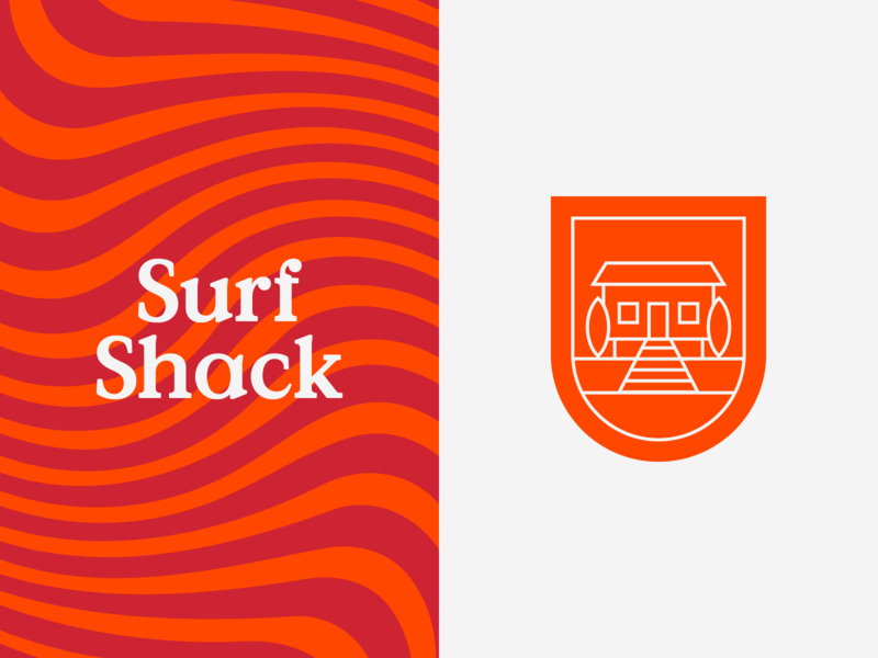 Surf Shack Branding illustration branding sea typography type surf shack logo minimal clean munich