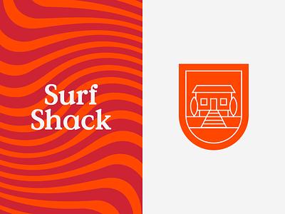Surf Shack Branding illustration branding sea typography type surf shack logo minimal clean munich