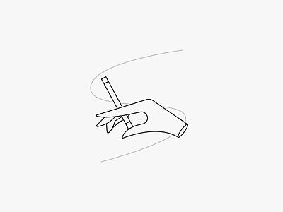Hand chill cigarette hand illustration minimal clean munich