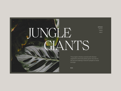 Jungle Giants typography type jungle plant minimal clean munich