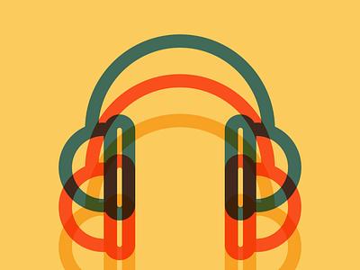 Headphones personal vector illustration
