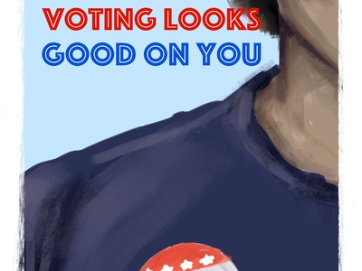 Voting looks good on you. political personal illustration